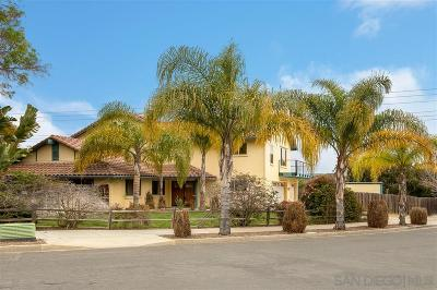 Oceanside Single Family Home For Sale: 3640 Sky Haven Ln