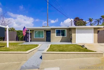 San Diego Single Family Home For Sale: 3451 Glade Street