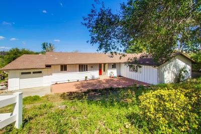 Fallbrook Single Family Home For Sale: 1754 Adalane Pl