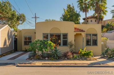 San Diego Single Family Home For Sale: 2219 Dwight St