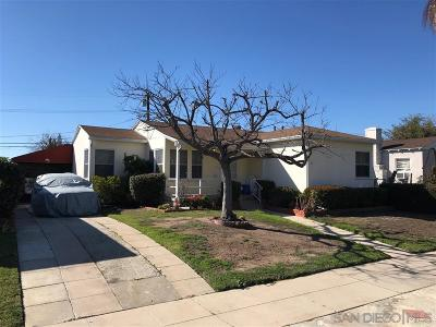 San Diego Single Family Home For Sale: 4586 Aragon Dr