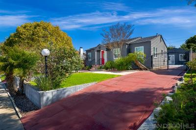 San Diego Single Family Home For Sale: 4615 Esther St