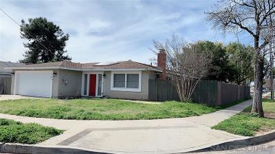 Escondido Single Family Home For Sale: 743 Pitman