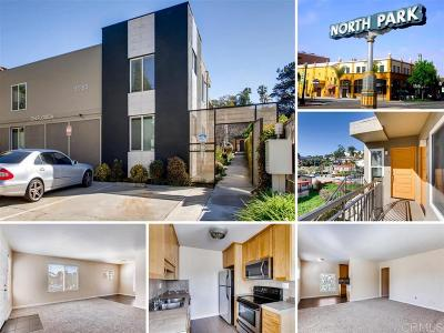 San Diego Attached For Sale: 3555 Florida Street #E