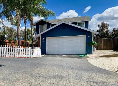 Vista CA Single Family Home For Sale: $525,000