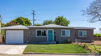 San Diego Single Family Home For Sale: 5303 Encina