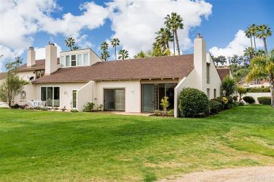 Rancho Santa Fe Townhouse For Sale: 133 Via Coronado