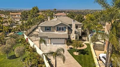 Chula Vista Single Family Home For Sale: 519 Del Corro Ct