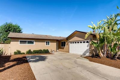 Oceanside Single Family Home For Sale: 4058 Lonnie St