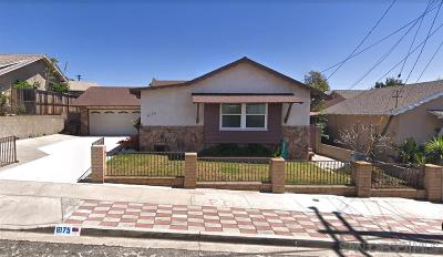 San Diego CA Single Family Home For Sale: $380,000