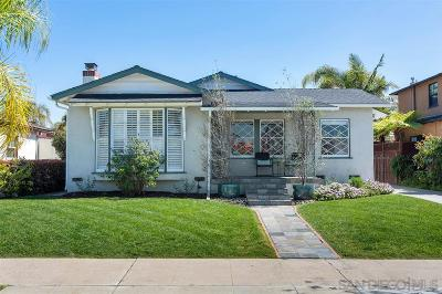 San Diego Single Family Home For Sale: 4707 Constance