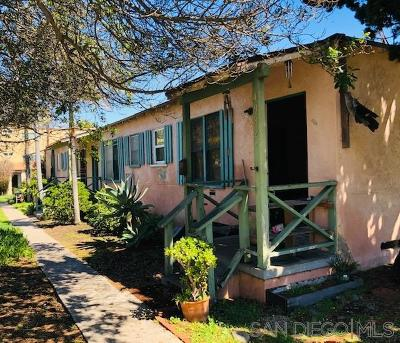 San Diego Multi Family 2-4 For Sale: 4982 Sana Cruz