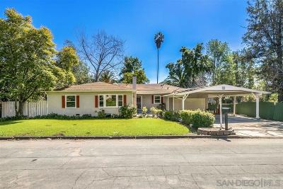 La Mesa Single Family Home For Sale: 9121 Madison Ave