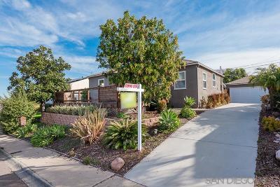 San Diego Single Family Home For Sale: 4351 E E Overlook Dr