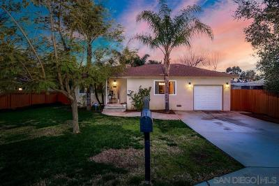 Escondido Single Family Home For Sale: 1723 S Maple St