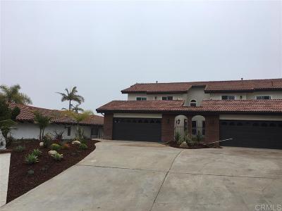 Oceanside,  Carlsbad , Vista, San Marcos, Encinitas, Escondido, Rancho Santa Fe, Cardiff By The Sea, Solana Beach Rental For Rent: 2458 Torrejon Pl