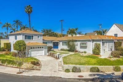 San Diego Single Family Home For Sale: 4540 E Talmadge Dr