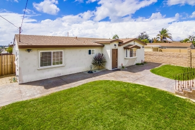 Chula Vista Single Family Home For Sale: 1340 Tobias Dr