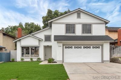 San Diego Single Family Home For Sale: 7244 Danawoods Ct
