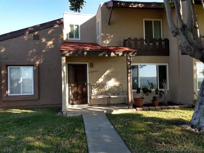 Chula Vista Townhouse For Sale: 1595 Mendocino Drive #47