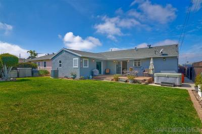 San Diego Single Family Home For Sale: 3443 Ashford St