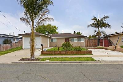 San Diego Single Family Home For Sale: 5272 Appleton St