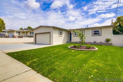 Chula Vista Single Family Home For Sale: 86 E E Naples St