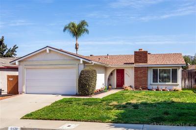 San Diego Single Family Home For Sale: 6430 Oakridge Rd
