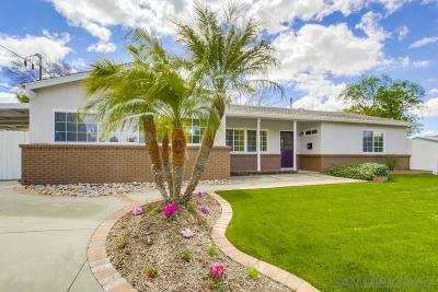 Santee Single Family Home For Sale: 9227 Dalehurst Rd