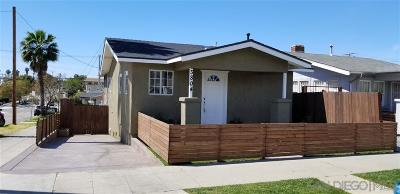 San Diego Single Family Home For Sale: 3804 39th St
