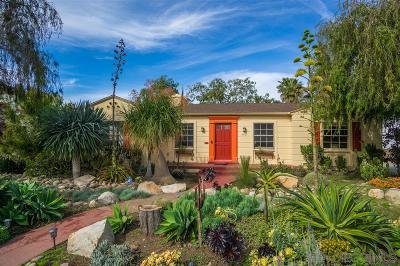 San Diego Single Family Home For Sale: 4616 El Cerrito Drive