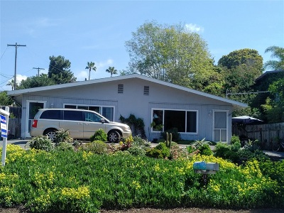 Encinitas Multi Family 2-4 For Sale: 1011-1013 Hygeia Ave.