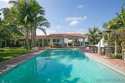 Oceanside,  Carlsbad , Vista, San Marcos, Encinitas, Escondido, Rancho Santa Fe, Cardiff By The Sea, Solana Beach Rental For Rent: 4950 El Arco Iris