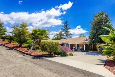 San Diego County Single Family Home For Sale: 720 Carnation Lane