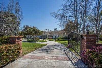 Single Family Home For Sale: 6191 Rancho Diegueno