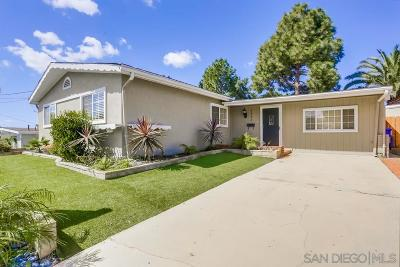 San Diego CA Single Family Home For Sale: $655,000