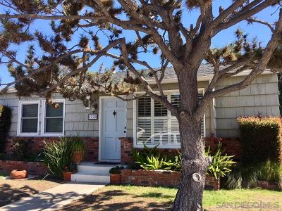 San Diego County Single Family Home For Sale: 4333 Athens St
