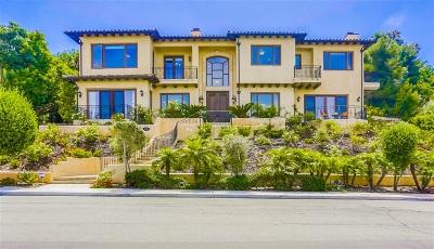 La Jolla Single Family Home For Sale: 1055 Muirlands Vista Way
