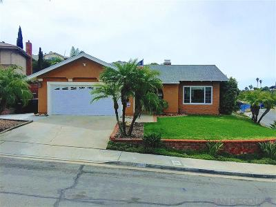 San Diego Single Family Home For Sale: 6407 Grace Court