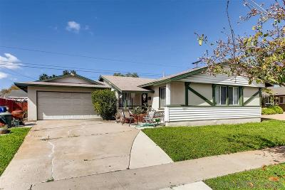 San Diego Single Family Home For Sale: 5022 Millwood Road