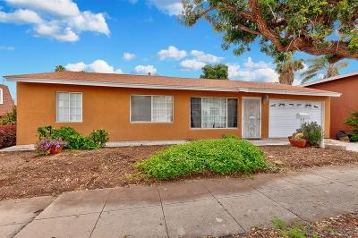 San Diego Single Family Home For Sale: 5289 Velma Ter