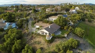 Fallbrook Single Family Home For Sale: 2388 Vista Valle Verde