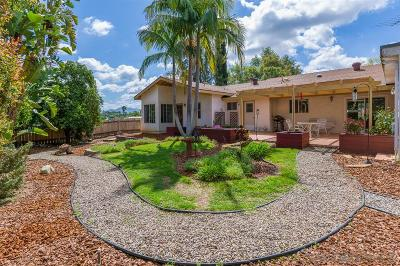 Escondido CA Single Family Home For Sale: $639,900