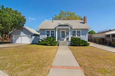 La Mesa Single Family Home For Sale: 4871 Bancroft