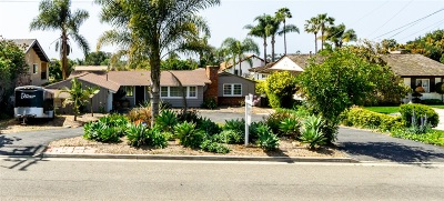 Oceanside Single Family Home For Sale: 1737 Hunsaker St.