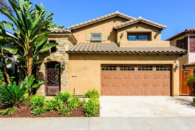 Coronado Single Family Home For Sale: 39 Green Turtle