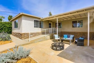 el cajon Single Family Home For Sale: 9867 Dunbar Lane