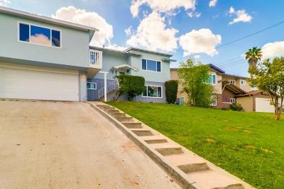 La Mesa Single Family Home For Sale: 6025 Amaya Dr