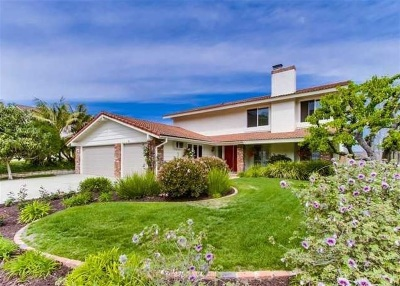 Solana Beach Single Family Home For Sale: 978 Santa Florencia