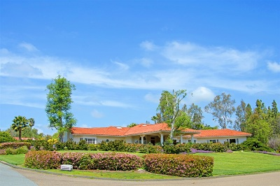 Rancho Santa Fe Single Family Home For Sale: 17328 Avenida Peregrina